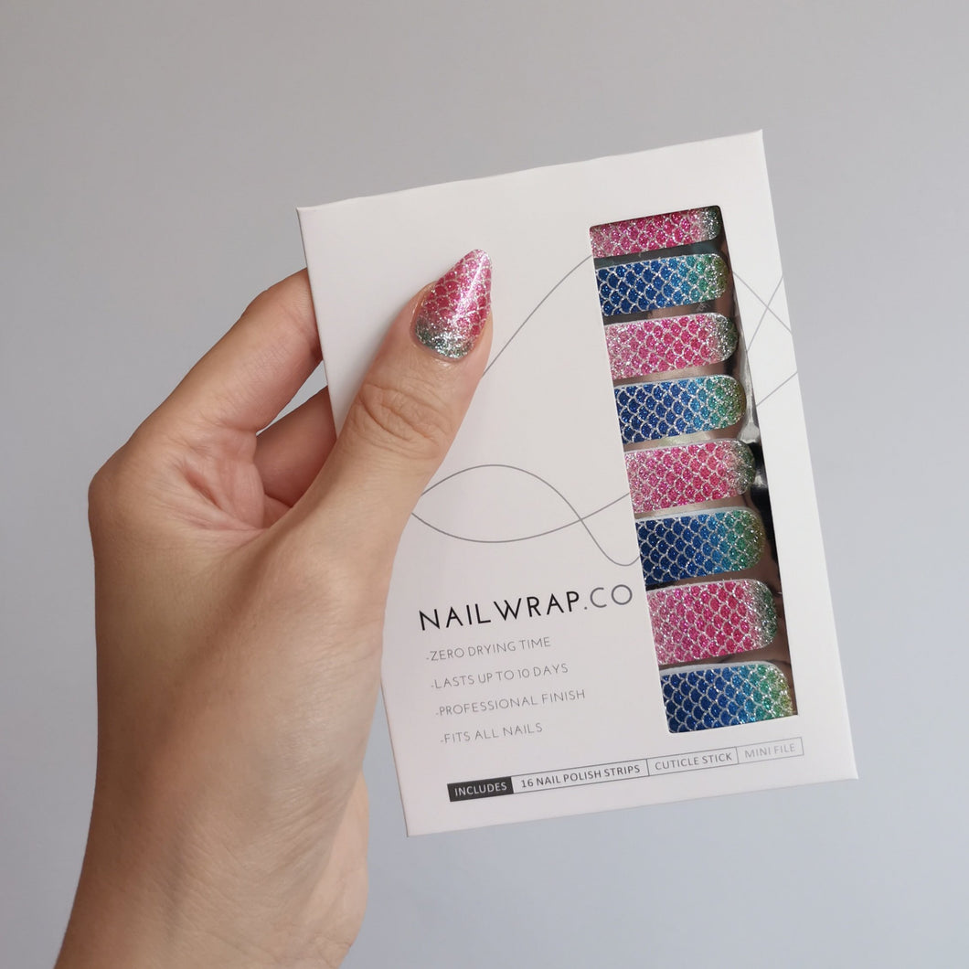 Buy Ariel Mermaid 🧜🏻‍♀️ Nail Wraps at the lowest price in Singapore from NAILWRAP.CO. We Ship Worldwide. Over 300 designs! Instant designer nail art under 10 minutes