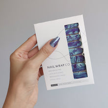 Load image into Gallery viewer, Buy Deep Sea Nail Polish Wraps at the lowest price in Singapore from NAILWRAP.CO. Worldwide Shipping. Instant designer nail art manicure in under 10 minutes.