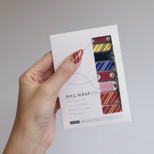 Load image into Gallery viewer, Buy Wiz Kid ⚡ Nail Polish Wraps at the lowest price in Singapore from NAILWRAP.CO. Worldwide Shipping. Instant designer nail art manicure in under 10 minutes.
