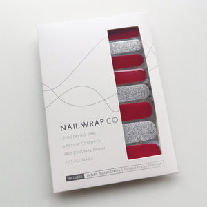 Buy Crimson Glitz Nail Wraps at the lowest price in Singapore from NAILWRAP.CO. We Ship Worldwide. Over 300 designs! Instant designer nail art under 10 minutes