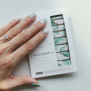 Buy Jade Marble Nail Polish Wraps at the lowest price in Singapore from NAILWRAP.CO. Worldwide Shipping. Instant designer nail art manicure in under 10 minutes.