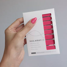 Load image into Gallery viewer, Buy Pink Punch (Solid) Nail Polish Wraps at the lowest price in Singapore from NAILWRAP.CO. Worldwide Shipping. Instant designer nail art manicure in under 10 minutes.