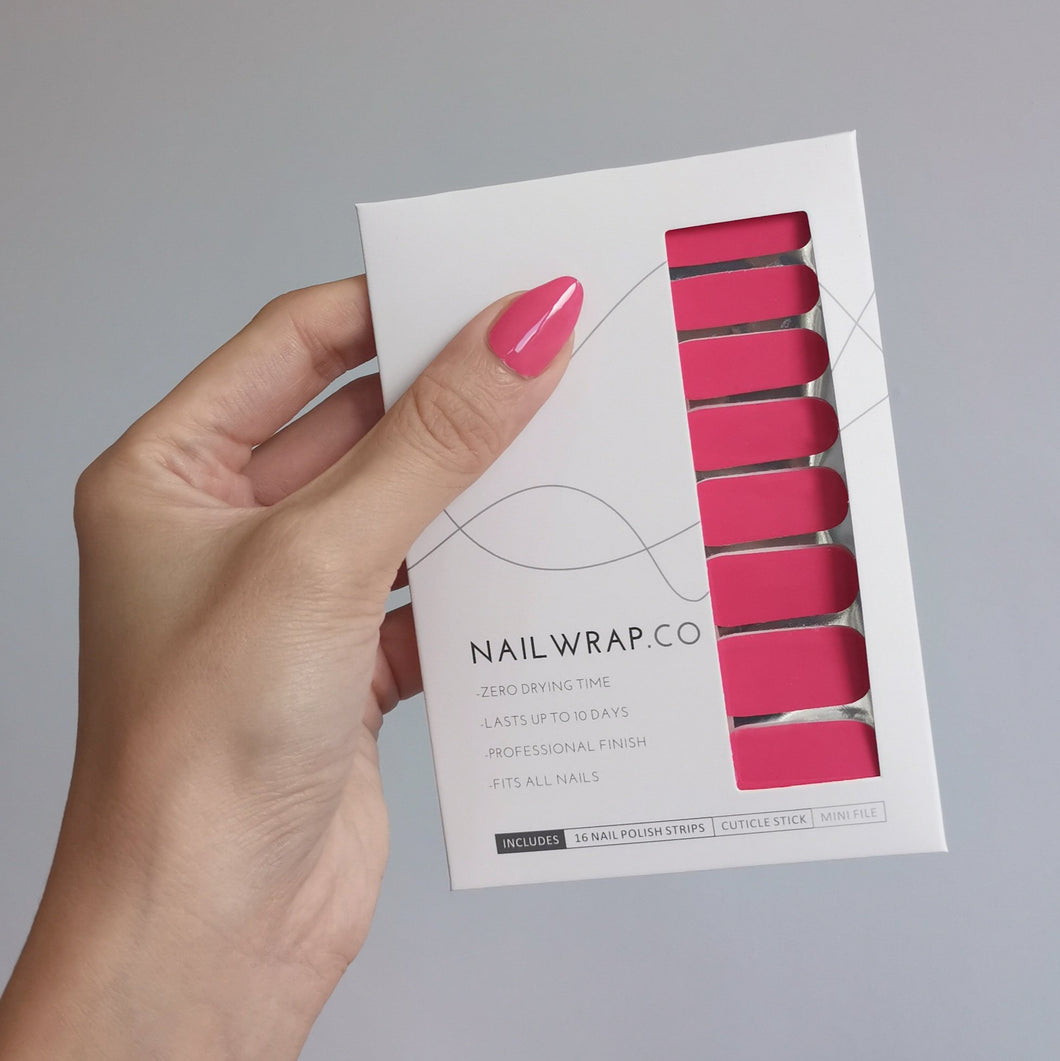 Buy Pink Punch (Solid) Nail Polish Wraps at the lowest price in Singapore from NAILWRAP.CO. Worldwide Shipping. Instant designer nail art manicure in under 10 minutes.