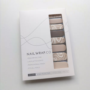 Buy Mocha Swirl Nail Polish Wraps at the lowest price in Singapore from NAILWRAP.CO. Worldwide Shipping. Instant designer nail art manicure in under 10 minutes.