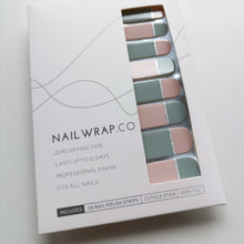 Load image into Gallery viewer, Buy Neutral Colorblock Nail Polish Wraps at the lowest price in Singapore from NAILWRAP.CO. Worldwide Shipping. Instant designer nail art manicure in under 10 minutes.