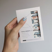 Load image into Gallery viewer, Buy Rocky Lagoon Nail Polish Wraps at the lowest price in Singapore from NAILWRAP.CO. Worldwide Shipping. Instant designer nail art manicure in under 10 minutes.