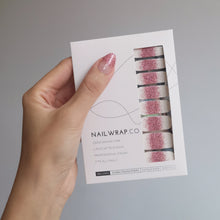 Load image into Gallery viewer, Buy Frost Pink Glitter Nail Polish Wraps at the lowest price in Singapore from NAILWRAP.CO. Worldwide Shipping. Instant designer nail art manicure in under 10 minutes.