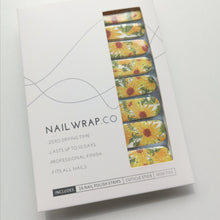 Load image into Gallery viewer, Buy Sunflower Fields 🌻 Nail Polish Wraps at the lowest price in Singapore from NAILWRAP.CO. Worldwide Shipping. Instant designer nail art manicure in under 10 minutes.