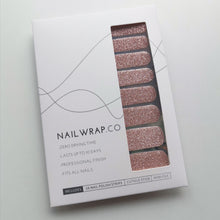 Load image into Gallery viewer, Buy Rose Gold (Glitter) Nail Wraps at the lowest price in Singapore from NAILWRAP.CO. We Ship Worldwide. Over 300 designs! Instant designer nail art under 10 minutes