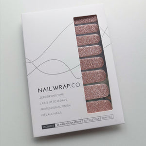 Rose Gold (Glitter) - NAILWRAP.CO Nail Wrap Co Nail Wraps Singapore Online SG Nail Stickers Nodspark Freshly Wrapped Freshlywrapped Emmezingnails Yaytonails Yay to Nails Nailedit-wraps Nailed it Gelato Factory Korea United States Australia Personail Itspersonail Nails Mailed Polishpops Cheap DIY Manicure Salon Gelish Acrylic Kids Happie Manufacturer Supplier Wholesale Customized Review