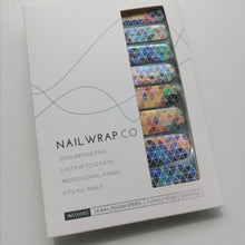 Load image into Gallery viewer, Buy Colorful Triangles Nail Polish Wraps at the lowest price in Singapore from NAILWRAP.CO. Worldwide Shipping. Instant designer nail art manicure in under 10 minutes.