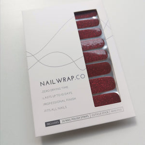 Buy Classic Maroon (Glitter) Nail Polish Wraps at the lowest price in Singapore from NAILWRAP.CO. Worldwide Shipping. Instant designer nail art manicure in under 10 minutes.