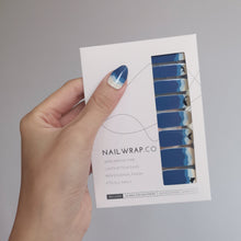 Load image into Gallery viewer, Buy Whaley Blue 🐳 Nail Wraps at the lowest price in Singapore from NAILWRAP.CO. We Ship Worldwide. Over 300 designs! Instant designer nail art under 10 minutes