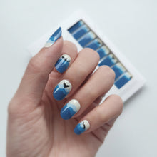 Load image into Gallery viewer, Buy Whaley Blue 🐳 Nail Polish Wraps at the lowest price in Singapore from NAILWRAP.CO. Worldwide Shipping. Instant designer nail art manicure in under 10 minutes.