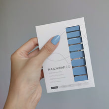 Load image into Gallery viewer, Buy Serene Sea (Solid) Nail Polish Wraps at the lowest price in Singapore from NAILWRAP.CO. Worldwide Shipping. Instant designer nail art manicure in under 10 minutes.