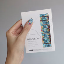 Load image into Gallery viewer, Buy Waikiki Babe Nail Polish Wraps at the lowest price in Singapore from NAILWRAP.CO. Worldwide Shipping. Instant designer nail art manicure in under 10 minutes.