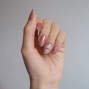 Buy Rose Gold (Glitter) Nail Wraps at the lowest price in Singapore from NAILWRAP.CO. We Ship Worldwide. Over 300 designs! Instant designer nail art under 10 minutes