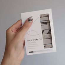 Load image into Gallery viewer, Buy Grey Canvas Nail Polish Wraps at the lowest price in Singapore from NAILWRAP.CO. Worldwide Shipping. Instant designer nail art manicure in under 10 minutes.