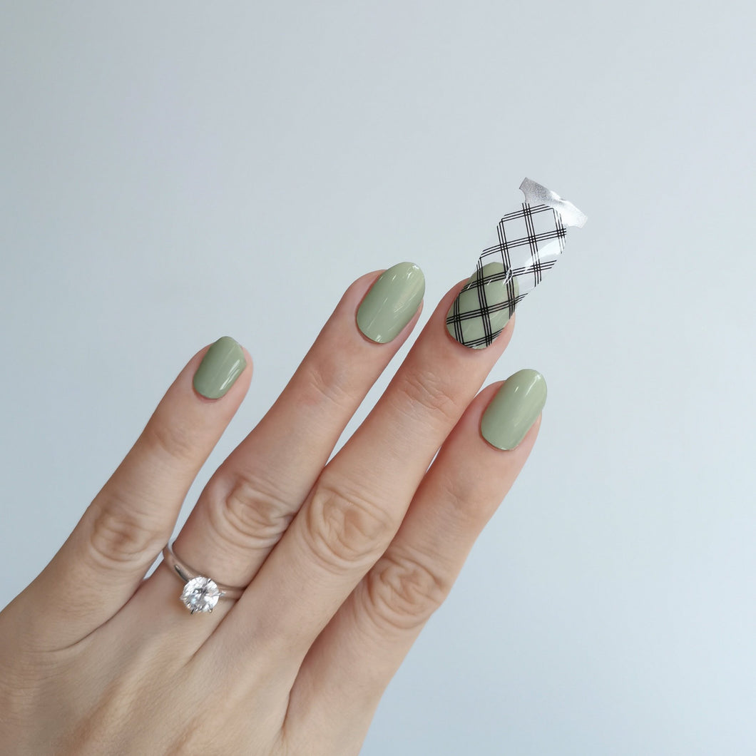 Buy Black Grid Lines Overlay Nail Polish Wraps at the lowest price in Singapore from NAILWRAP.CO. Worldwide Shipping. Instant designer nail art manicure in under 10 minutes.