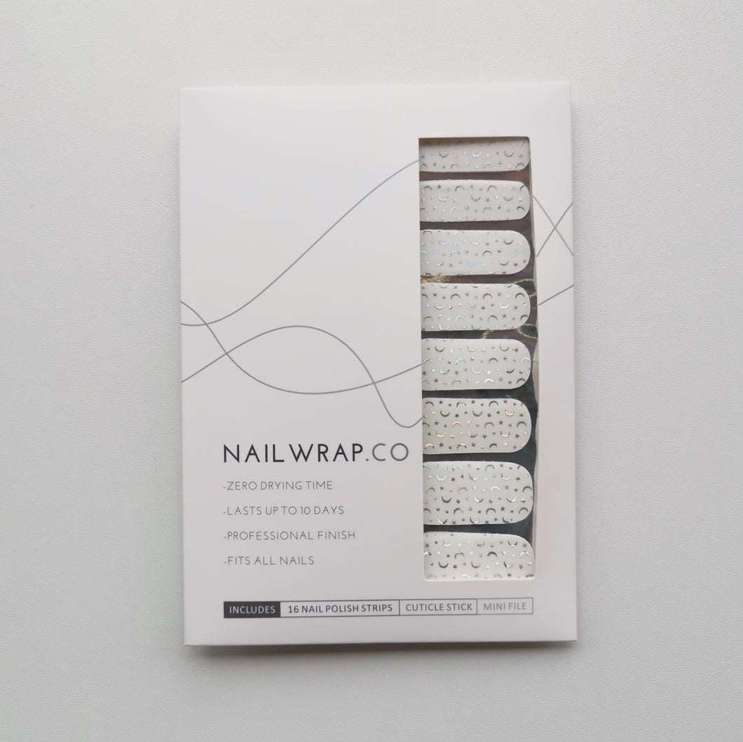 Buy Crescent Moon Overlay 🌙 Nail Wraps at the lowest price in Singapore from NAILWRAP.CO. We Ship Worldwide. Over 300 designs! Instant designer nail art under 10 minutes