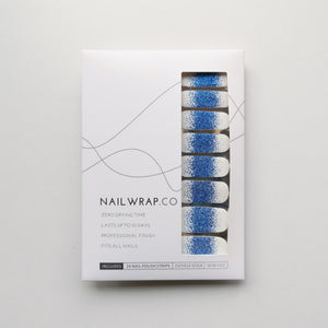 Buy Frost Blue Glitter Nail Wraps at the lowest price in Singapore from NAILWRAP.CO. We Ship Worldwide. Over 300 designs! Instant designer nail art under 10 minutes