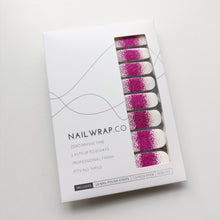 Load image into Gallery viewer, Buy Frost Fuchsia Glitter Nail Polish Wraps at the lowest price in Singapore from NAILWRAP.CO. Worldwide Shipping. Instant designer nail art manicure in under 10 minutes.
