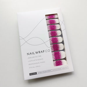 Buy Frost Fuchsia Glitter Nail Polish Wraps at the lowest price in Singapore from NAILWRAP.CO. Worldwide Shipping. Instant designer nail art manicure in under 10 minutes.