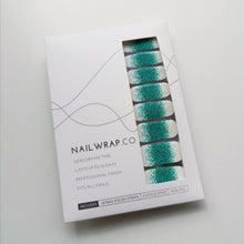 Load image into Gallery viewer, Buy Frost Emerald Glitter Nail Polish Wraps at the lowest price in Singapore from NAILWRAP.CO. Worldwide Shipping. Instant designer nail art manicure in under 10 minutes.