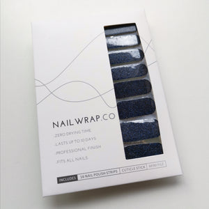 Buy Navy Blue (Glitter) Nail Polish Wraps at the lowest price in Singapore from NAILWRAP.CO. Worldwide Shipping. Instant designer nail art manicure in under 10 minutes.