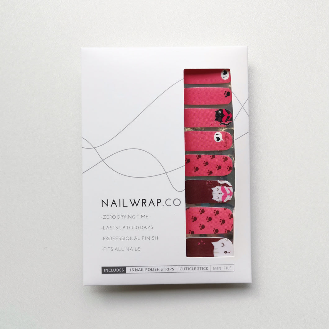 Buy Cat Paws Nail Polish Wraps at the lowest price in Singapore from NAILWRAP.CO. Worldwide Shipping. Instant designer nail art manicure in under 10 minutes.
