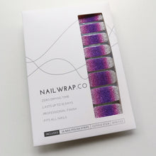 Load image into Gallery viewer, Buy Purple Ombré Glitter Nail Polish Wraps at the lowest price in Singapore from NAILWRAP.CO. Worldwide Shipping. Instant designer nail art manicure in under 10 minutes.