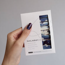 Load image into Gallery viewer, Buy Blue Lava Nail Polish Wraps at the lowest price in Singapore from NAILWRAP.CO. Worldwide Shipping. Instant designer nail art manicure in under 10 minutes.