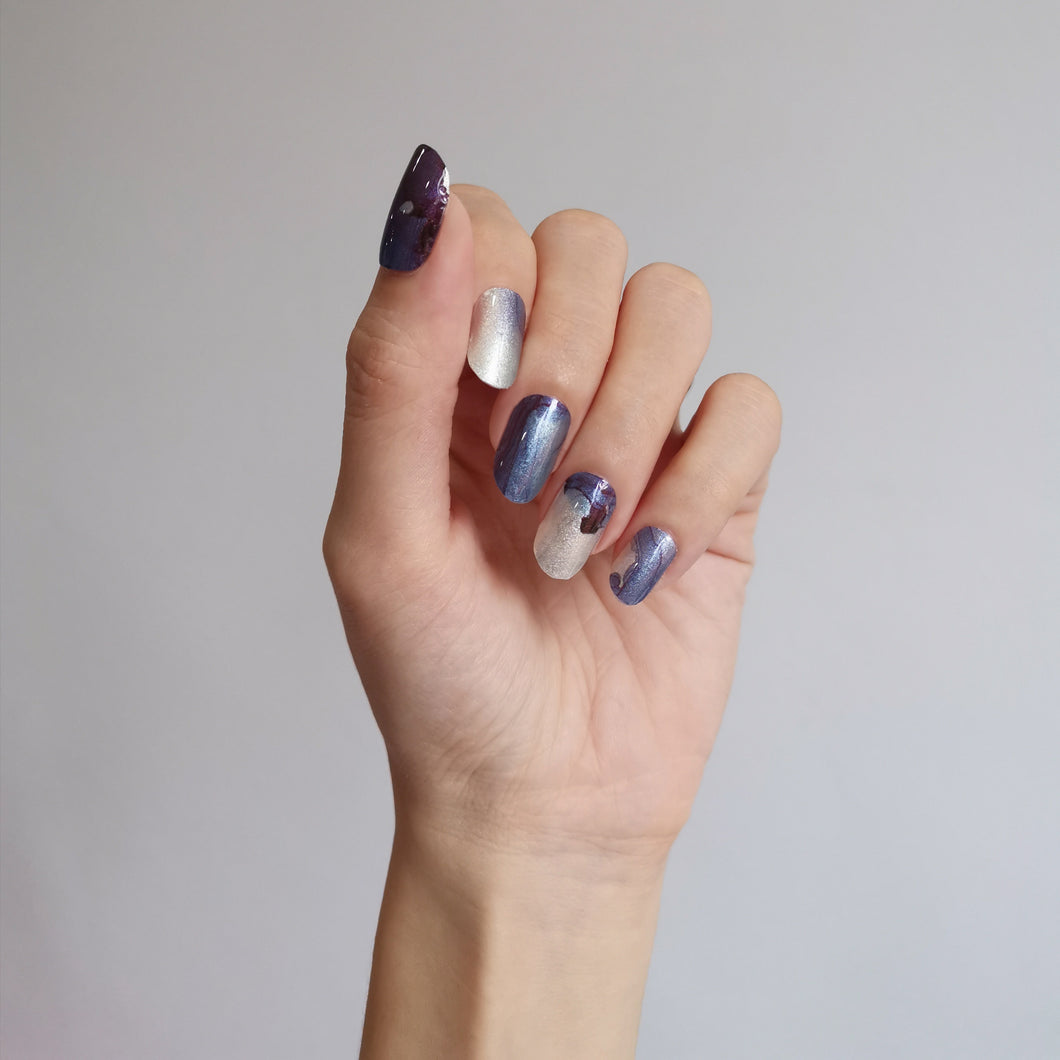 Buy Blue Lava Nail Polish Wraps at the lowest price in Singapore from NAILWRAP.CO. Worldwide Shipping. Instant designer nail art manicure in under 10 minutes.