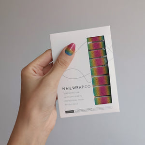 Buy Rainbow Glitter Nail Polish Wraps at the lowest price in Singapore from NAILWRAP.CO. Worldwide Shipping. Instant designer nail art manicure in under 10 minutes.