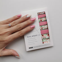Load image into Gallery viewer, Buy Flower Love Nail Polish Wraps at the lowest price in Singapore from NAILWRAP.CO. Worldwide Shipping. Instant designer nail art manicure in under 10 minutes.