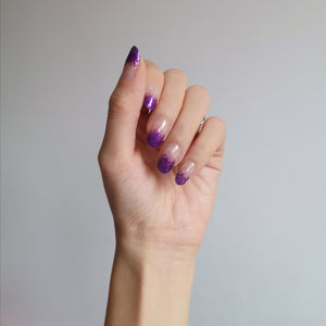 Buy Frost Purple Glitter Nail Polish Wraps at the lowest price in Singapore from NAILWRAP.CO. Worldwide Shipping. Instant designer nail art manicure in under 10 minutes.