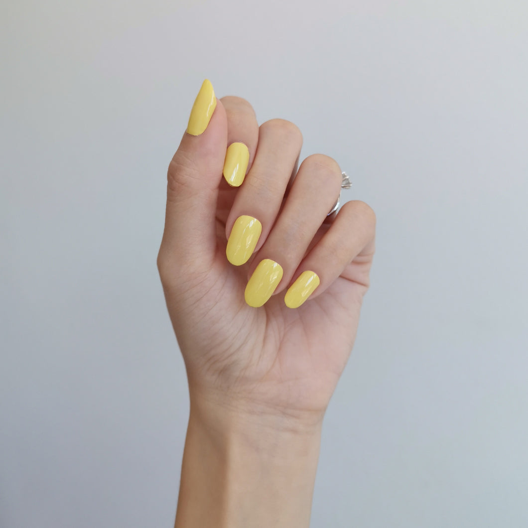 Buy Chin Up Buttercup (Solid) Nail Polish Wraps at the lowest price in Singapore from NAILWRAP.CO. Worldwide Shipping. Instant designer nail art manicure in under 10 minutes.