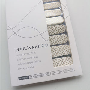 Buy Gold Mermaid Overlay 🧜🏻‍♀️ Nail Polish Wraps at the lowest price in Singapore from NAILWRAP.CO. Worldwide Shipping. Instant designer nail art manicure in under 10 minutes.