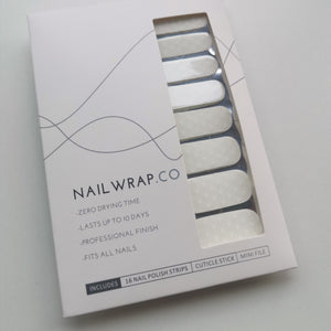 Buy White Cloud Overlay ☁️ Nail Polish Wraps at the lowest price in Singapore from NAILWRAP.CO. Worldwide Shipping. Instant designer nail art manicure in under 10 minutes.