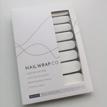 Load image into Gallery viewer, Buy White Floral Tip Overlay Nail Polish Wraps at the lowest price in Singapore from NAILWRAP.CO. Worldwide Shipping. Instant designer nail art manicure in under 10 minutes.