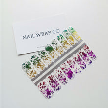 Load image into Gallery viewer, Buy Marvellous Rainbow Foil Nail Polish Wraps at the lowest price in Singapore from NAILWRAP.CO. Worldwide Shipping. Instant designer nail art manicure in under 10 minutes.