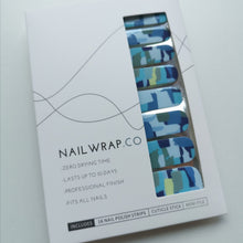 Load image into Gallery viewer, Buy Newport Blue Nail Polish Wraps at the lowest price in Singapore from NAILWRAP.CO. Worldwide Shipping. Instant designer nail art manicure in under 10 minutes.