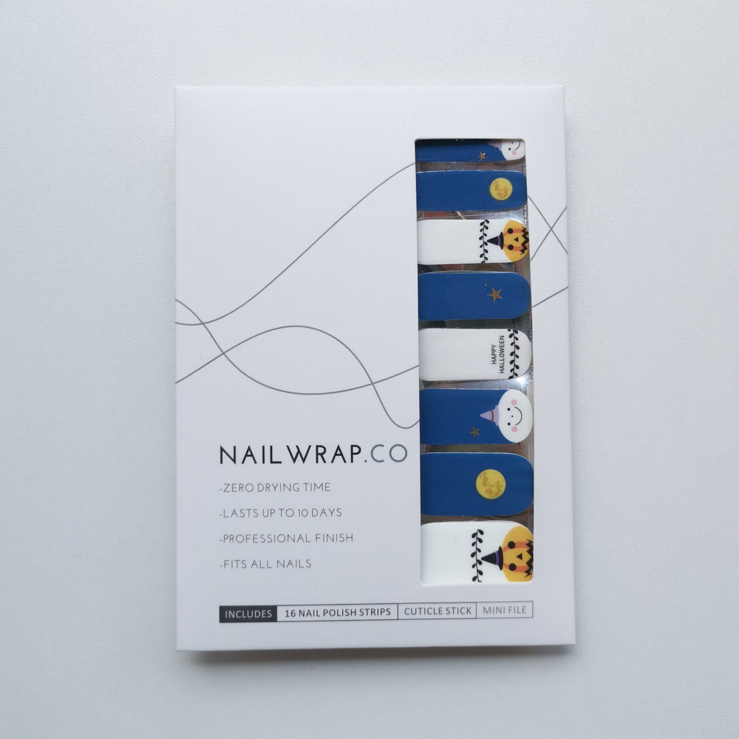 Buy Happy Halloween Nail Polish Wraps at the lowest price in Singapore from NAILWRAP.CO. Worldwide Shipping. Instant designer nail art manicure in under 10 minutes.