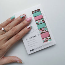 Load image into Gallery viewer, Buy Party Mint Nail Polish Wraps at the lowest price in Singapore from NAILWRAP.CO. Worldwide Shipping. Instant designer nail art manicure in under 10 minutes.