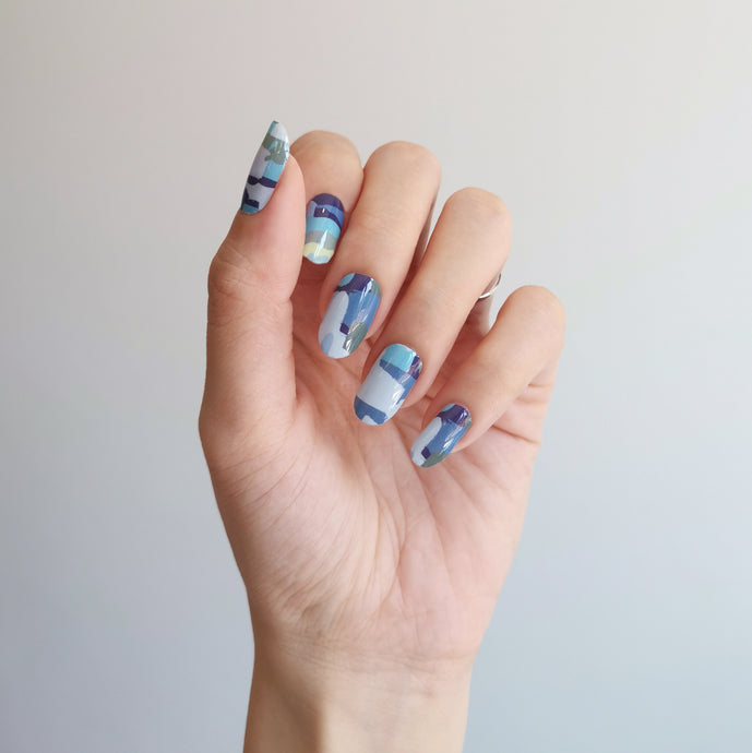 Buy Newport Blue Nail Polish Wraps at the lowest price in Singapore from NAILWRAP.CO. Worldwide Shipping. Instant designer nail art manicure in under 10 minutes.