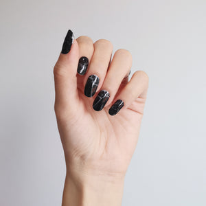 Buy Lexie Black Marble Nail Polish Wraps at the lowest price in Singapore from NAILWRAP.CO. Worldwide Shipping. Instant designer nail art manicure in under 10 minutes.