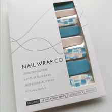 Load image into Gallery viewer, Buy Blue Instinct Nail Polish Wraps at the lowest price in Singapore from NAILWRAP.CO. Worldwide Shipping. Instant designer nail art manicure in under 10 minutes.