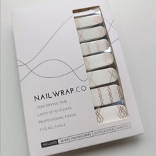Load image into Gallery viewer, Buy Rose Gold Aztec Line Overlay Nail Polish Wraps at the lowest price in Singapore from NAILWRAP.CO. Worldwide Shipping. Instant designer nail art manicure in under 10 minutes.