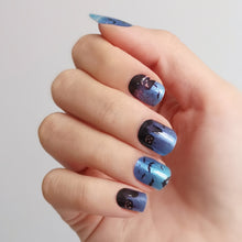 Load image into Gallery viewer, Buy Fright Night Nail Polish Wraps at the lowest price in Singapore from NAILWRAP.CO. Worldwide Shipping. Instant designer nail art manicure in under 10 minutes.