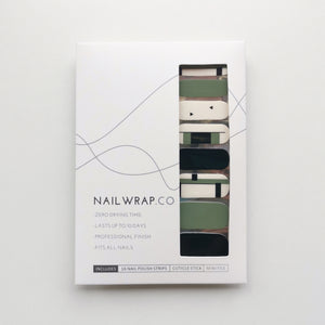 Buy Minimal Slate Green Nail Polish Wraps at the lowest price in Singapore from NAILWRAP.CO. Worldwide Shipping. Instant designer nail art manicure in under 10 minutes.